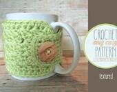 PDF PATTERN Mug Cozy, textured coffee cozy, crochet cozy pattern, tea cozy pattern, crochet mug cozy pattern, PDF cozy