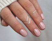 Knuckle Ring, Midi Ring, Stacking Ring set of 3