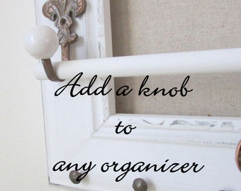 Vintage Knob add-on for jewelry organizers - not to purchase alone