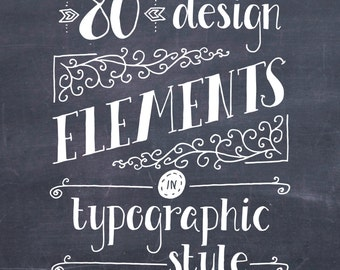 CLIP ART: Typography Elements // Vectors Photoshop Brushes // Vintage Hand Drawn Ampersand Catchword Flourish Divider Ornament // Commercial