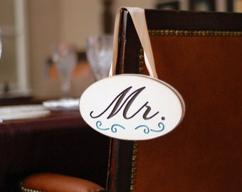 Wedding Wood Plaque Engraved with Mr. for the Groom