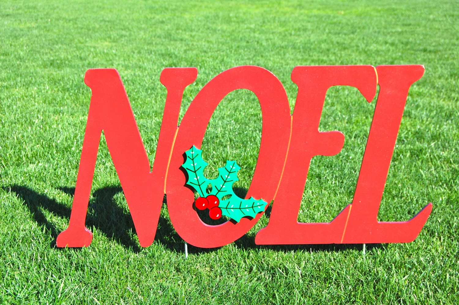 Items similar to noel outdoor christmas holiday yard art for Outdoor christmas signs