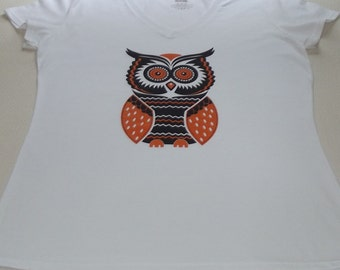 Women's Shirt ~ Owl Shirt ~ Women's  Clothing ~ Owl Top ~ Owl ~  Shirt  ~ Top ~Women's  Owl Tshirt