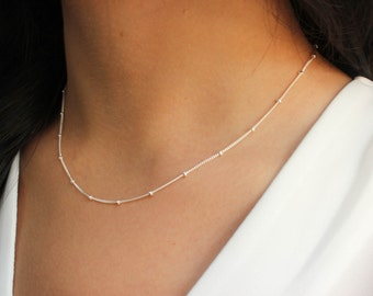 Layering Necklace, Layered necklace, Satellite Chain, Layering jewelry