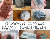 5 Star Wars Soaps - a sampler / Star Wars characters / geek chic / geek gifts geek stuff / Father's day gift
