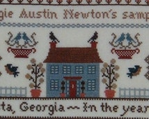 Canterbury Designs One Generation Sampler Counted Cross Stitch Pattern Charteed Design Bookmark Pattern Rare Out of Print