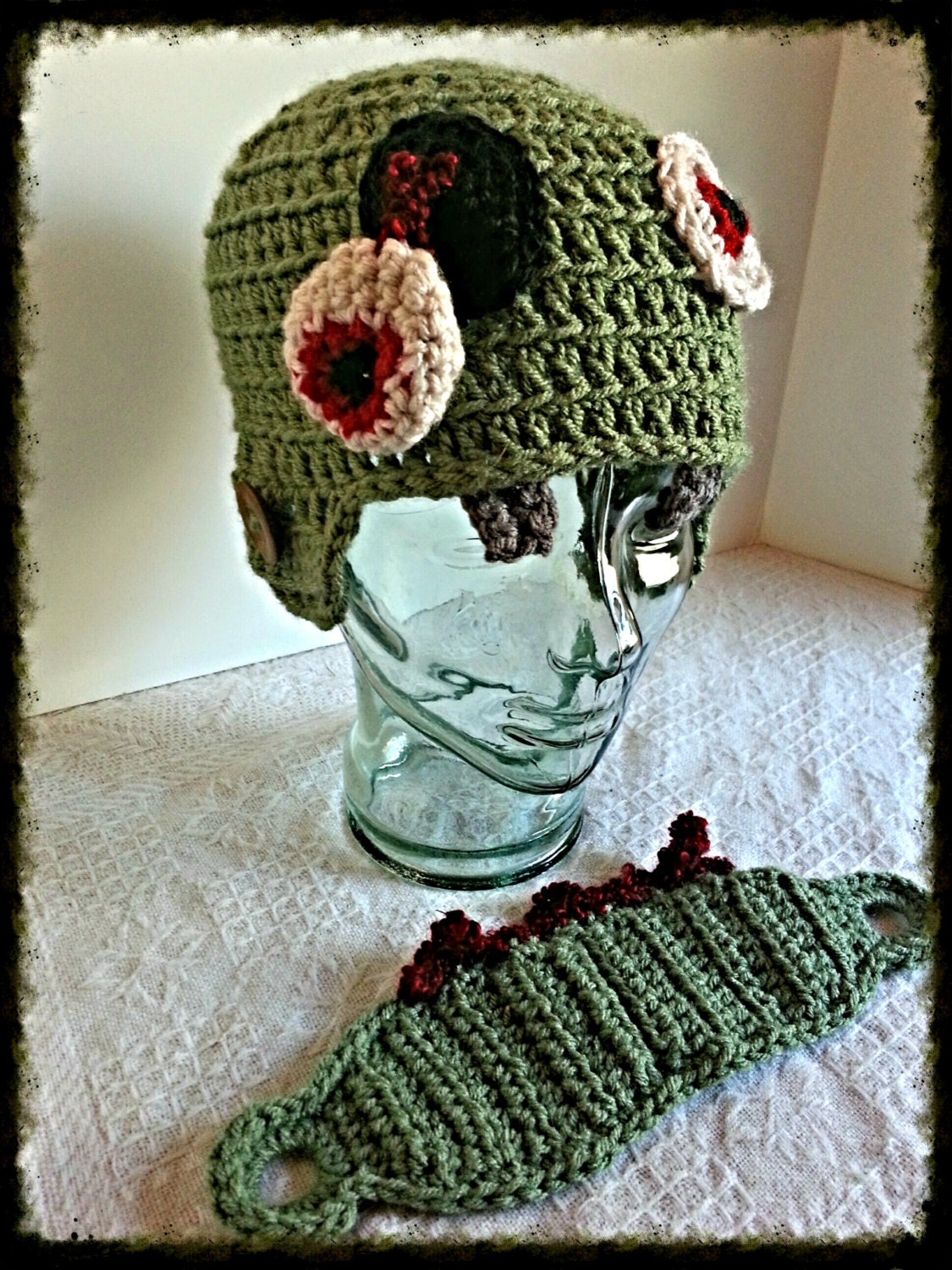 Crochet Zombie Patterns : Zombie Hat Pattern sizes newborn through xl adult PATTERN