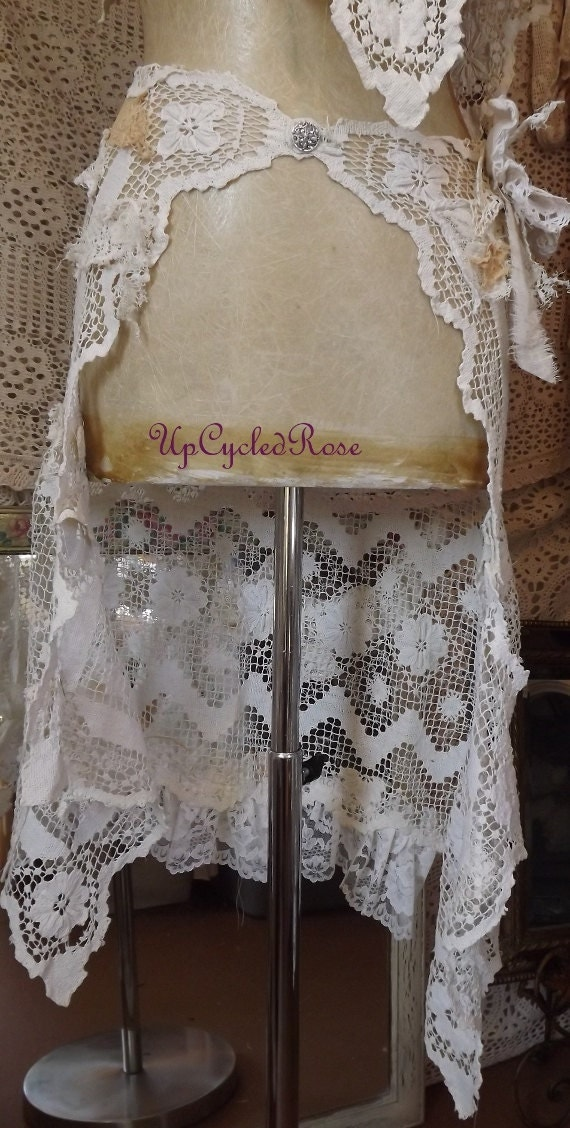 Free Shipping  Wrapping Rachael in Romance Shabby Couture Hip Wrap Wall Canging Curtain Topper Window Topper Hand Made in USA