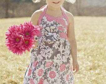Cara Maxi Dress, Girls Maxi Dress, Toddler Maxi Dress, girls size 12 months, 2T, 3T, 4T, 5, 6, 7, 8, 10 girls