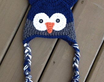 Crochet Owl Hat, Infant Owl Hat, Crochet Kids Hat, Baby Boy Hat, Boy Owl Hat, Kids Owl Hat, Newborn Photo Prop