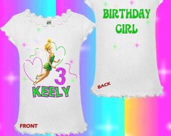 Tinkerbell Birthday Shirt - Tinker bell Shirt