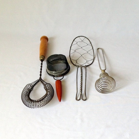 Vintage Kitchen Utensils Industrial Decor Egg By ShaginyAndTil