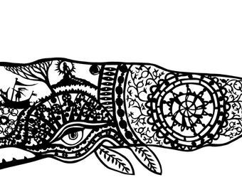 whale song - paper cut art