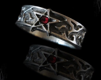 gothic pentagram ring, Faregram