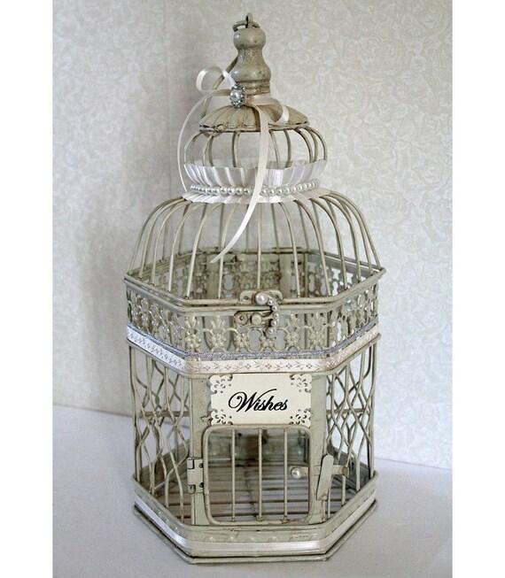 Wedding Birdcage Wishing Well Small Card Box By DazzlingGRACE