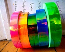 Rainbow Morphing Tape Rolls ~Unique, Specialty Tapes Shifting Through Stellar All Rainbow Colors