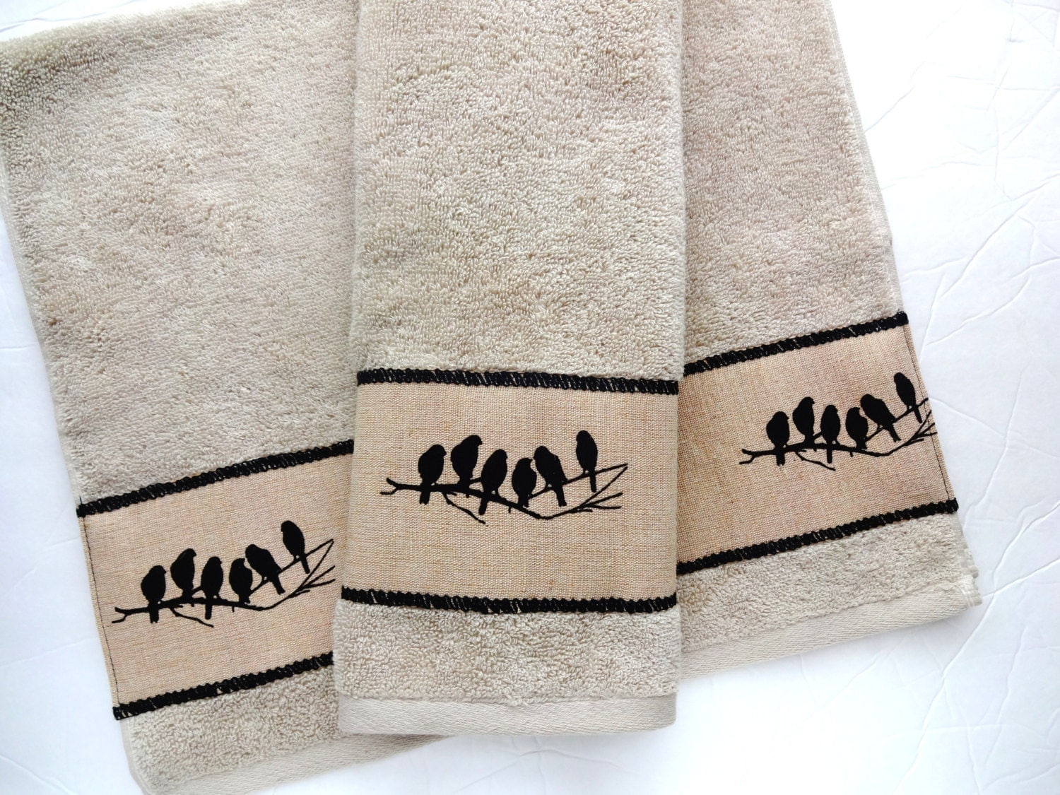 Bath Towels Towels Hand Towel Tan Bathroom Brown Linen