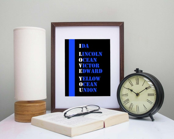 Police Officer Gift Law Enforcement Thin Blue Line Cop