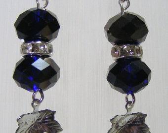 Indigo and Silver Earrings