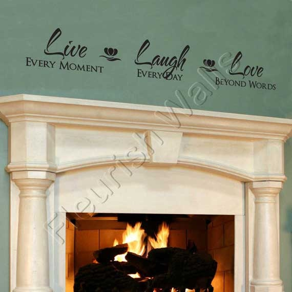 Foyer Room Quotes : Live laugh love wall decal vinyl quote lettering decor