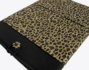 Macbook Pro Sleeve, Macbook Pro Case, 15 inch Macbook Pro Cover, 15 inch Macbook Pro Case, Laptop Sleeve, Leopard