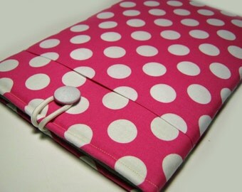 Macbook Pro Sleeve, Macbook Pro Cover, 13 inch Macbook Pro Cover, 13 inch Macbook Pro Case, Laptop Sleeve, Pink Polka Dots