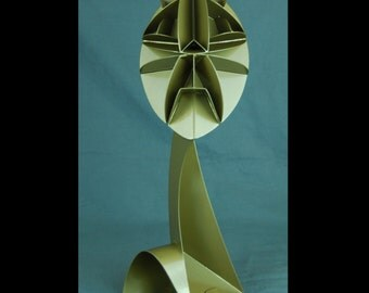 Modern Abstract Small Gold Sculpture Made By Jacob Novinger