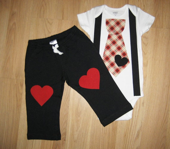 Baby boy Valentine s day outfit My first by kottoncactus