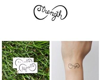strength tattoo etsy. Black Bedroom Furniture Sets. Home Design Ideas