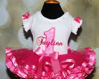 Beautiful Birthday Number Tutu Outfit 2 pieces includes top and tutu only Princess Design