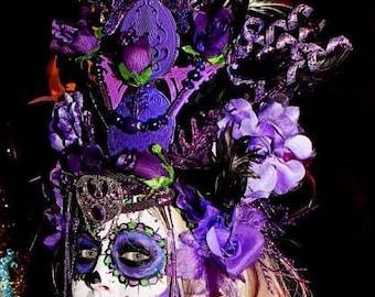 Purple Power Magical Fantasy Fairytale Villain Enchanting Goddess Headdress