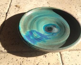 Decorative Ceramic Plate (Teal)