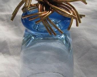 Gold Wire Wrap Swirl Thorny Layered Brooch, Attractive!