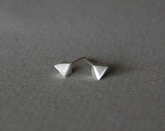 Small stud earrings, silver stud earrings, minimalist silver studs, sterlins silver stud, geometric studs, mens studs, solid silver studs