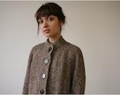 Cozy Lined Wool Coat //1960s//