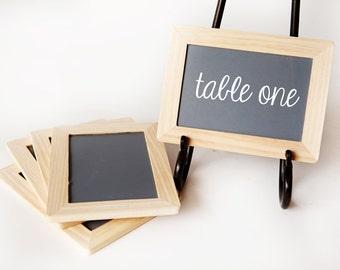 4x6 Chalkboards, Set of 5, Natural Wood Frame for Weddings, Wedding Chalk Boards, Event Signs