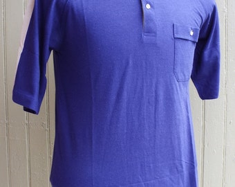 Vintage Blue Short Sleeve Polo Shirt by Thane Airowisp