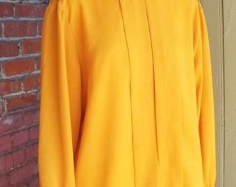 Vintage Women's Long Sleeve Blouse by Oui Petites