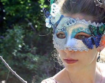Masquerade Mask Silver masquerade ball mask halloween mask fairy mask butterfly mask silver bridal mask venitian carnival mask FAUNA
