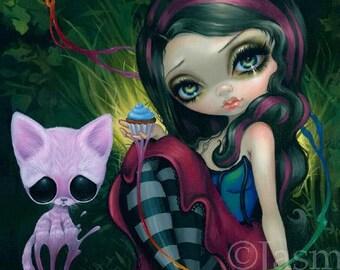 Sugar Fueled Jasmine Becket-Griffith Cat Kitten Cupcake Animal Lowbrow Pop Surrealism cute big eyes eye art print