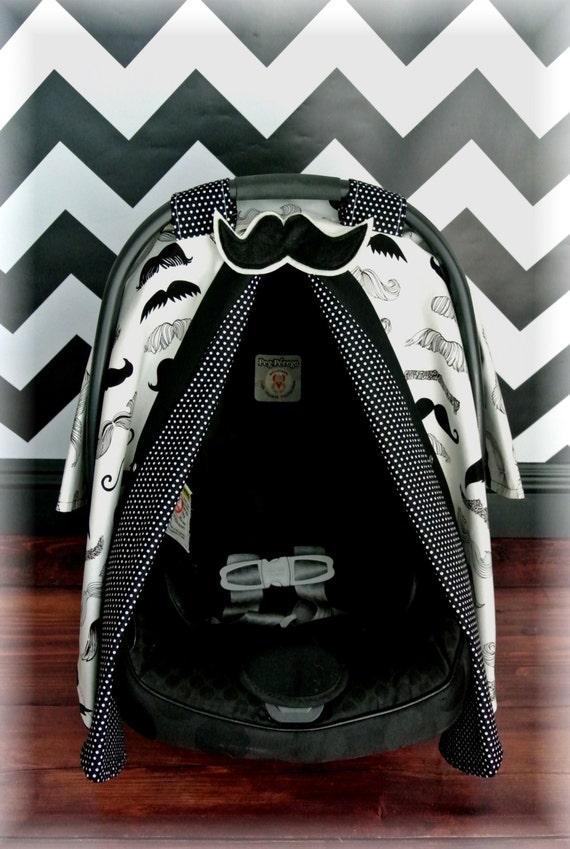 Mustache Car Seat Canopy