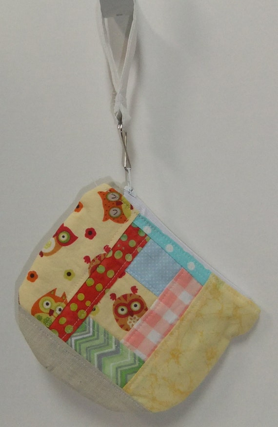Owl Themed Patchwork Zip Pouch Ooak By Donnammonster On Etsy