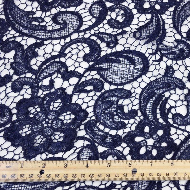 navy blue lace dress fabric