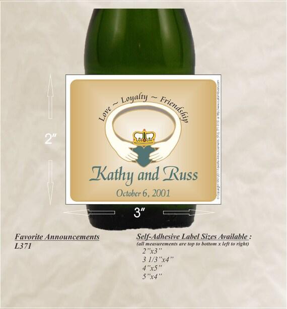Claddagh Wedding Irish Wedding Favors Wine Labels