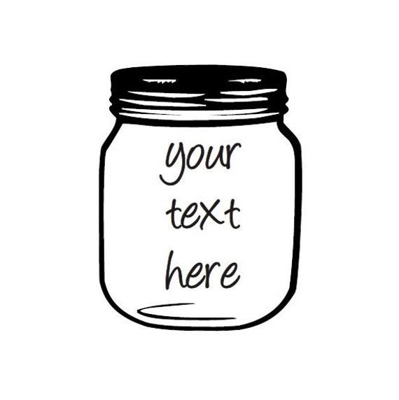 Custom Mason Jar Candle Custom Text Soy Candle mason jar soy  |Mason Jar Text