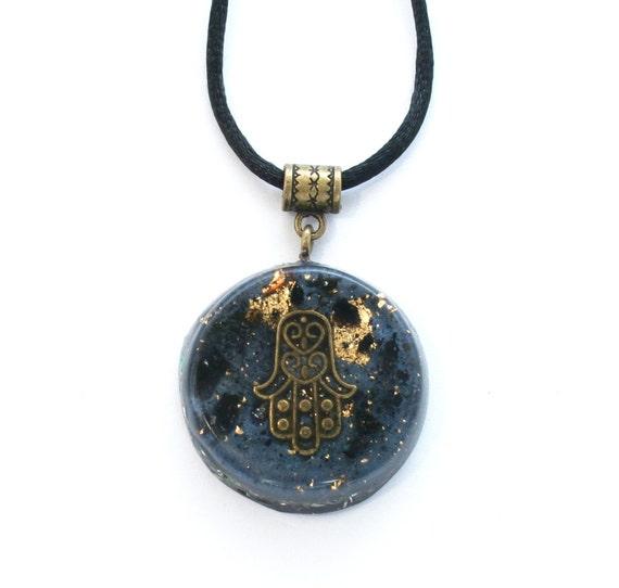 orgone pendant tourmaline and shungite orgonite emf