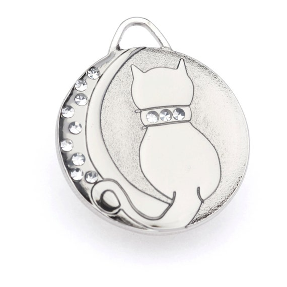 Cat ID Tag Personalized in Silver or Gold