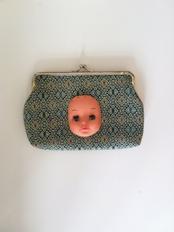 Vintage purse with doll head