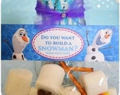 Disney Frozen Birthday Party Favor Bag Toppers Printable; Frozen Party Favors