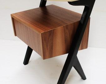 Mid Century Modern Nightstand/ American Walnut / Custom Made